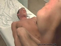 Missionary twink anal sex in close up
