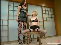 Kym Wilde whips Star before drilling her ass with a strapon
