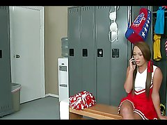 Interracial sex in the locker room for the naughty teen Haley Sweet