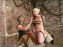 Lorelei Lee gets her boobs tortured and pussy toyed