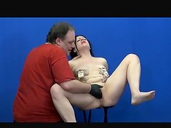 Suffering Isabels explicit domination and boob torture of english Initiate bondman in lady pain and sexual punishment