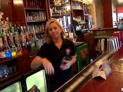 Passionate Rihanna Samuel gets fucked in a bar