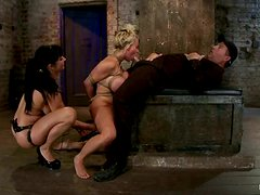 Holly Halston Tied Up and Strapon Fucked in Female Domination Vid
