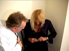 Hot Granny Goes To Doctor To Check Her Boobs And Cunt
