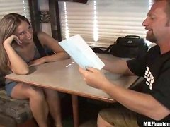 Sexy Kymber rides big cock and gets toyed in a trailer