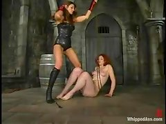 Kym Wilde whips Venus May's ass before fucking her pussy with strapon