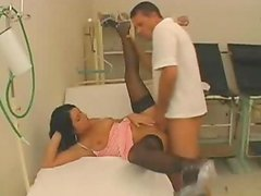 Clinic Nurse has porn the Stockinged Patient