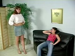 Pretty Brunette Got Rough Spanking By Her Best Friend