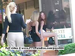 Asley and Brianna from ftv babes stunning lesbian babe licking and kissing in public