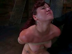 Kaydence Katchings gets her vag fingered and toyed in BDSM scene