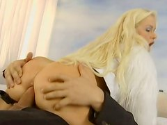 Big breasted slut Stacy Silver rides dick like a cowgirl