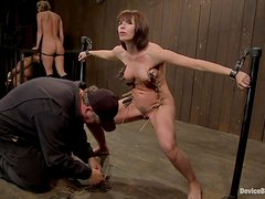 Ariel gives her master a nice handjob after an act of BDSM