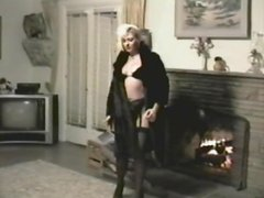 A Retro Solo Model Video Shows a Sexy Blonde Masturbating
