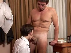 Boss fucks his young worker in the ass right in the office
