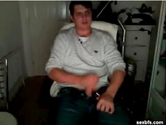Friends stroke dick and drink on webcam