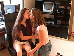 Playful lesbians are going to share some sex toys