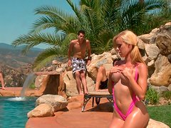 Bewitching blondie takes part in hot gangbang adventure