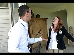 Amazing sex with the horny redhead teen Cammie Fox