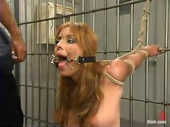 Lorena Sanchez gets her holes destroyed in a jail in BDSM scene