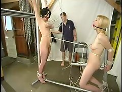 Cowgirl and Lily get tied up and dominated by a man