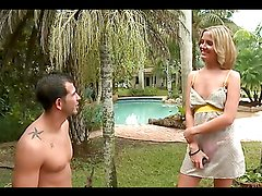 Great sex with the horny blonde little lady Megan Sweetz