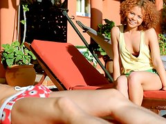 Sexy Redhead Gets a Good Hardcore Fucking Poolside