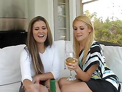 Hot babes masturbate and play with one another on camera