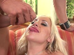 Hardcore fuck with a crazy and busty blonde milf