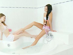 Two Babes Having Some Lesbian Fun While in the Bath