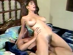 Full natural busty slut is drilled by two raunchy guys