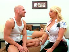 Candy Manson is a doctor with huge tits which loves big cocks