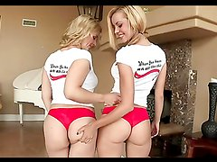 Gorgeous blondes have a threesome with a massive cock