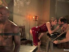 Maitresse Madeline is so happy to torture two men at a time