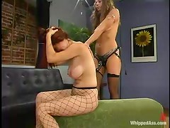 BDSM video of Kym Wilde torturing and fucking fishnet slut Sasha Monet