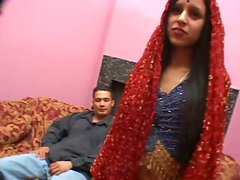 Two Horny Dudes Invite Indian Brunette Sulmi In Threesome
