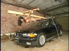 Mika Tan gets lies on a car hood and gets punished