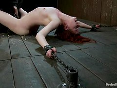 Lilla Katt gets her coochie fingered to orgasm in BDSM scene