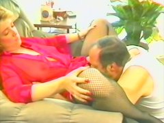 Retro porn video with a gorgeous mature lady
