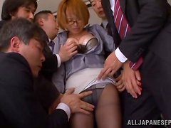 Hot fun in the office with the sexy Rika Hoshimi
