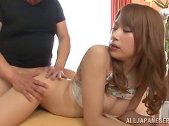 Rough sex in the kitchen with the sexy Asian babe Nami Aino