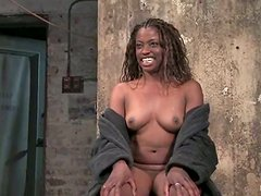 Monique gets bound to a chair and tormented in BDSM clip