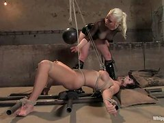 B. Hills enjoys being bound and tortured in BDSM clip with Lorelei Lee