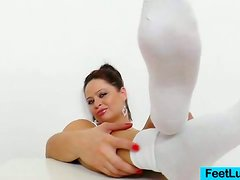 Sirale is in the Tub with Socks and Oil and her Favorite Fake Dick!