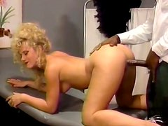 Curvy light haired madam gets plowed by her black gynecologist