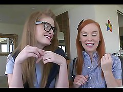 Two hot sluts get fucked hard in their pussies!