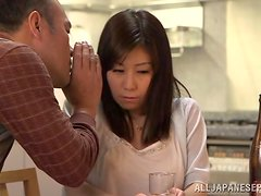 Great sex with the hot Asian milf Chihiro Akino