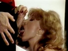 Astonishing blonde cougar gives head to her young bellboy