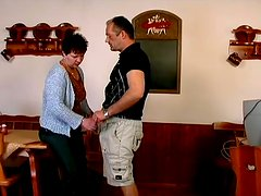 Short-haired mature brunette Mary gets fucked in all known positions