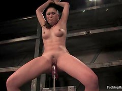 Brunette Sakura Scott gets her juicy vagina toyed