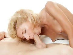 Amazing blonde Stephanie fucked by lover
